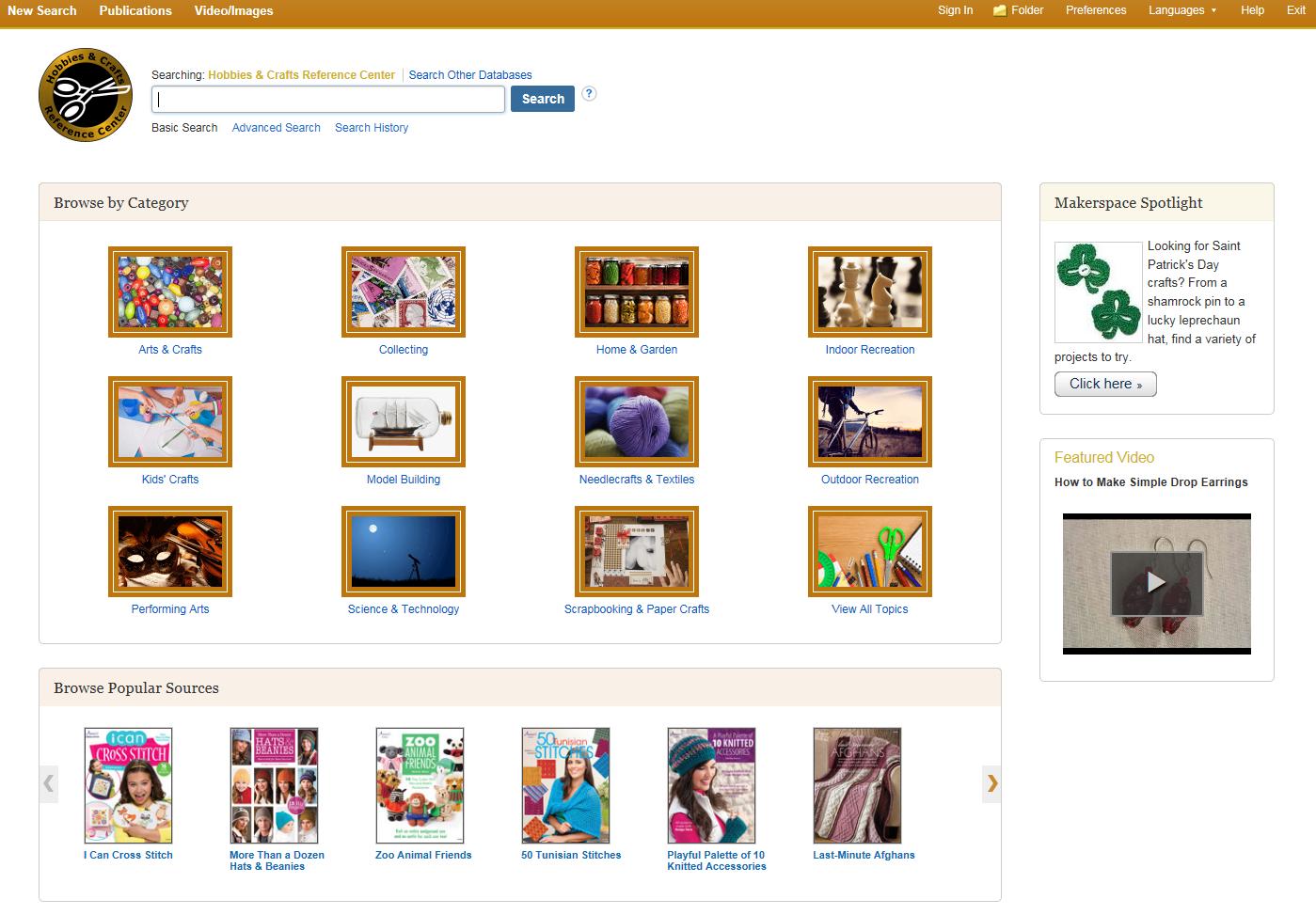 Hobbies & Crafts Reference Center | EBSCO
