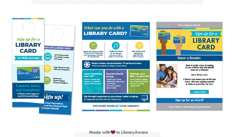 LibraryAware templates designed for library advocacy