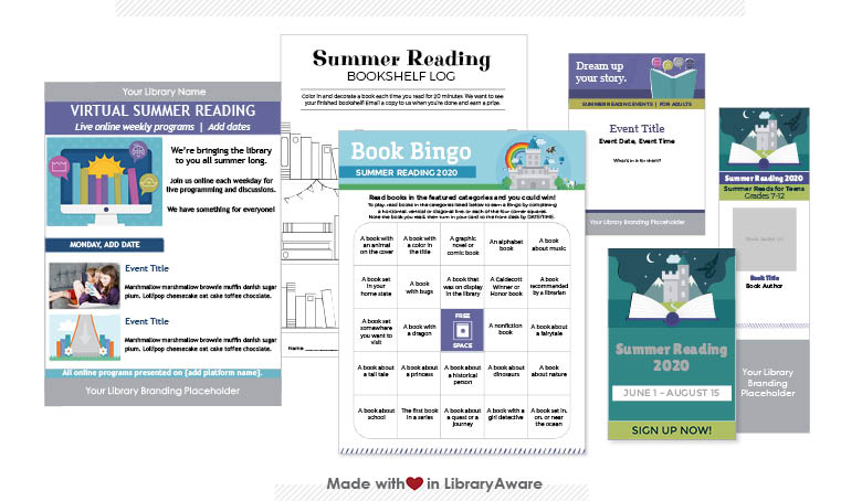 LibraryAware templates for summer reading programs