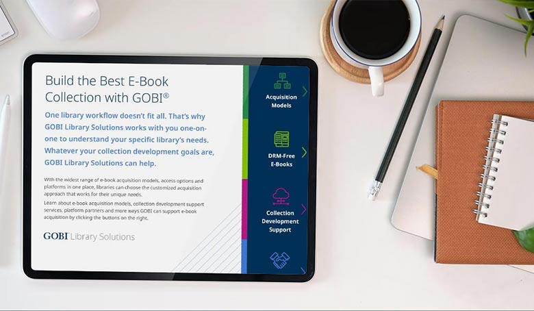 A preview of the GOBI eBrochure on an iPad