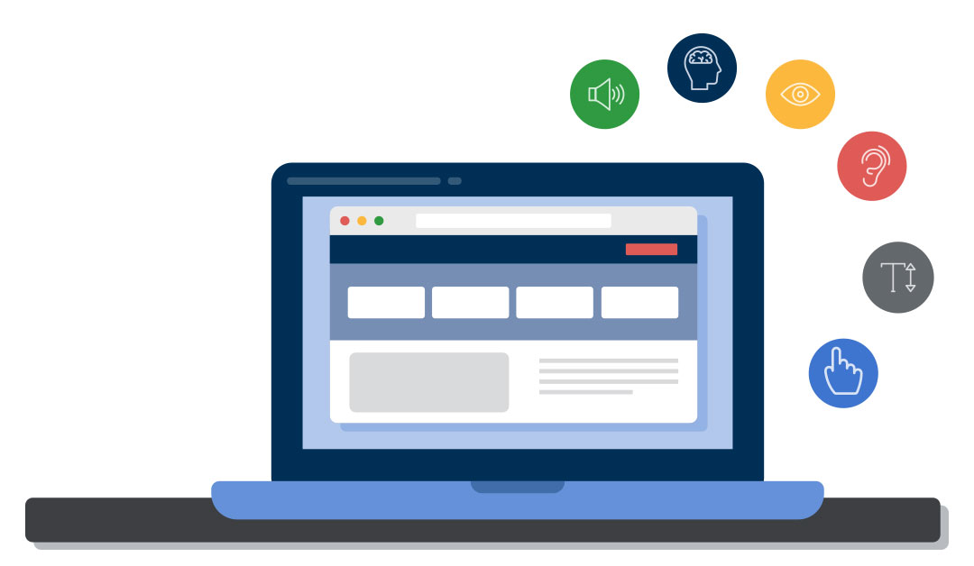 accessible laptop illustration