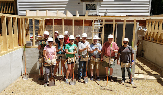 ebsco employees volunteering for habitat for humanity