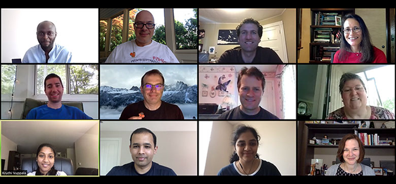 zoom call screenshot with 12 people