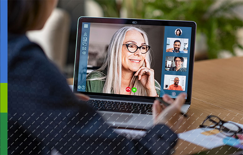 Image showing people on a video call