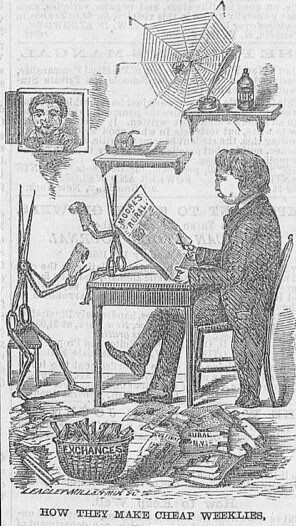 18th century cartoon how they make cheap weeklies